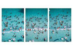 Caribbean Water Park Triptych