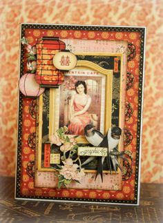 Birdsong card *Graphic 45* - Scrapbook.com This would make an awesome page or frame