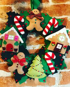 Christmas wreath!!! Ghirlanda di feltro fatta a mano!!!