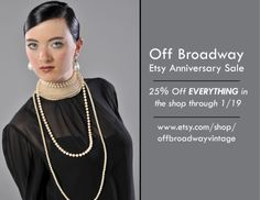 Off Broadway Etsy Anniversary Sale through 1/19/2014. Everything in the shop is 25% off. #vintage #vintageclothing #fashion