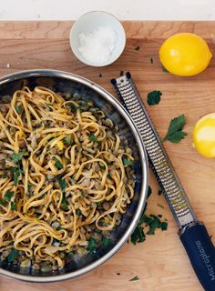 Lentil and Lemon Linguine