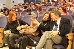 #FactorU arranca en su sesión de tarde con la participación de Gracia Querejeta y Sami Nair (d), acompañados de Pilar del Rio (c).
