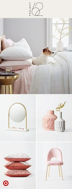 Looking to get more sleep in the new year? This room is a dream in pink—and proof that just a splash of blush (paired with brass) gives your bedroom an elevated vibe that only looks like a splurge.