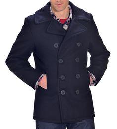 54033729ff2 740 - Classic 32 Oz. Melton Wool Navy Pea Coat Navy Pea Coat