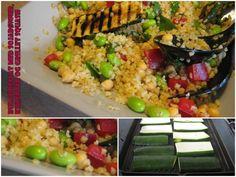 Brændstof: Bulgursalat med sojabønner, kikærter og grillet squash