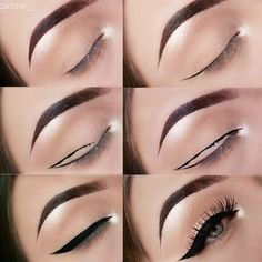Our tips on how to apply eyeliner are a game changer. Find out the hacks that actually work in practice and nail your eyeliner like a pro. Makeup hacks for teens girl should know acne eyeliner for hair makeup skincare Eyeliner Make-up, Eyeliner Hacks, Makeup Tutorial Eyeliner, Eyeliner Styles, Best Eyeliner, How To Apply Eyeliner, Eyebrow Makeup, Eyeshadow Makeup, Face Makeup
