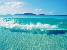 Crystal clear water, Bahamas