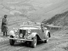 MG TD 1952 hill climb