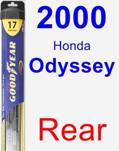 Rear Wiper Blade for 2000 Honda Odyssey - Hybrid
