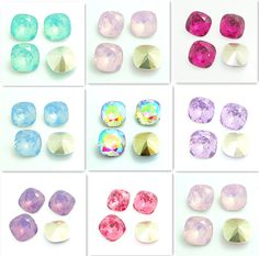 Details about Wholesale 30PCS Rounded Square Resin rhinestones beads 12mm DIY…