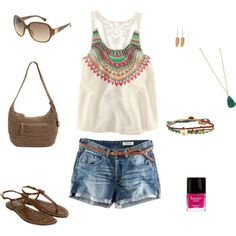 casual summer outfit, created by reallymichelle on Polyvore