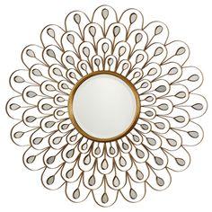Uttermost Golden Peacock Mirror