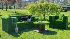 Artificial Grass Arm Chair
