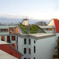 Rooftop Park Birkegade in Copenhagen, Denmark