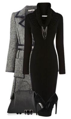 Black Sweater Dress by daiscat on Polyvore featuring polyvore, fashion, style, Balenciaga, Alexander McQueen, Bottega Veneta, Forever 21, Roman, Karen Millen and clothing