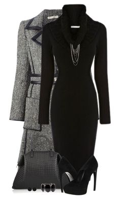 Black Sweater Dress by daiscat on Polyvore featuring polyvore, fashion, style, Balenciaga, Alexander McQueen, Bottega Veneta, Forever 21, Roman, Karen Millen and clothing