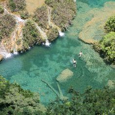 Take a dip in woodsy Lanquín, #Guatemala. Photo courtesy of douglasdbs on Instagram.