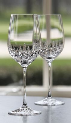 Cashs Blarney White WIne Glasses, Pair Imagine drinking a glass of fresh squeezed orange juice in these babies first thing in the morning.