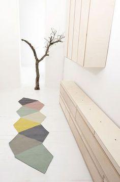 cool runner idea - cut up flor tiles?