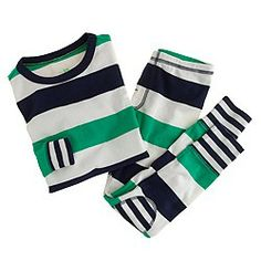 Boys' rugby-stripe sleep set