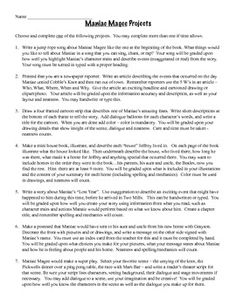 Maniac Magee Discussion Questions Activity | More Activities ...