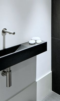 Modern toilet basin with MGS basin tap, available via inoxtaps.com # architect: Jos van Zijl | Villa Leusden