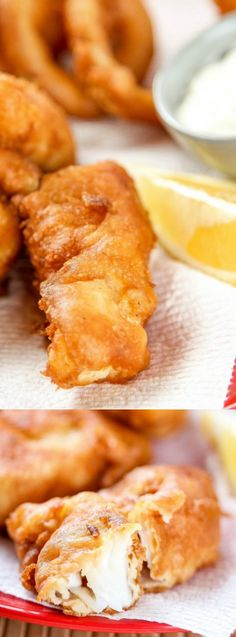 These Beer Battered Cod from Baking Beauty are a great dinner choice when you're craving some good ol' fish fry for dinner! They're crispy on the outside yet remain juicy on the inside for the perfect fish dinner that your family will love!