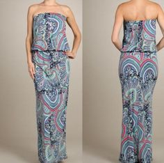 Strapless Maxi   Caylor Creek Boutique is trendy women's fashion boutique located in Granbury Tx on the square. Great place to shop in Texas. 817-579-5444, Visit us on Facebook or Instagram also http://www.caylorcreek.com