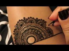 Simple Henna Design - YouTube