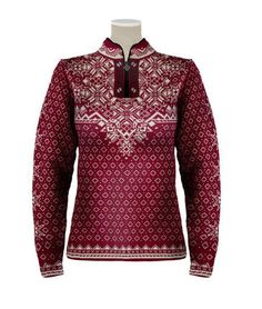 Dale of Norway Woman`s Bogstad Pullover Sweater 9134 in Vino Tinto / Wine