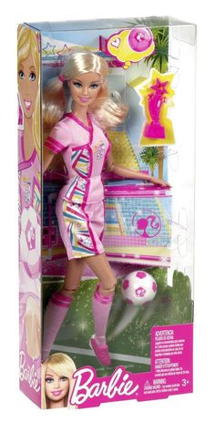 I can be... Barbie SOCCER PLAYER & her Accessories  ~BRAND NEW~ #Mattel #Dolls