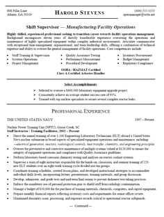Military To Civilian Resume Examples Facility Lead Maintenance Resume Sample  Resumes  Pinterest