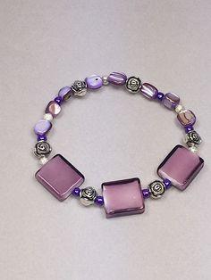 Purple pearl bracelet