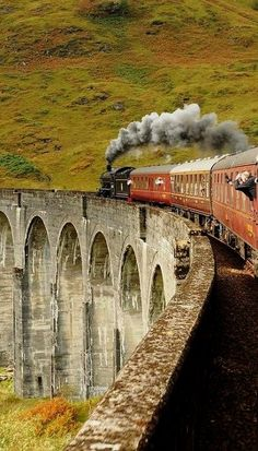 Glenfinnan Viaduct, Highlands, Scotland http://www.pinterest.com/halinalis/breathtaking-view/