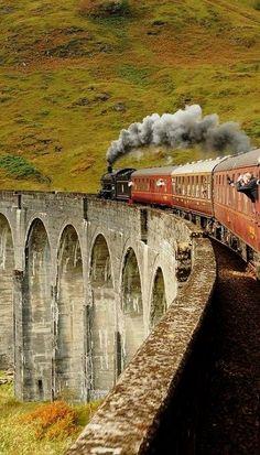 Glenfinnan Viaduct, Highlands, Scotland http://www.pinterest.com/halinalis/breathtaking-view/