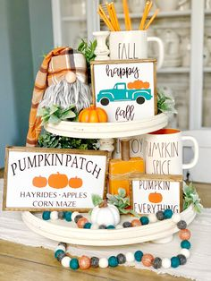 Excited to share this item from my etsy shop: Pumpkin patch sign / signs / buffalo check / fall signs / fall decor / tiered tray signs/ rae Dunn decor / coffee bar / happy fall 289919294762494701 Fall Home Decor, Autumn Home, Rustic Fall Decor, Buffalo Check, Happy Fall Y'all, Happy Sunday, Fall Signs, Home And Deco, Thanksgiving Decorations