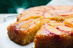 london bakes | nectarine + polenta upside-down cake from 'homemade memories'