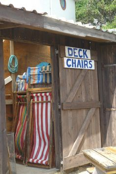 Deck-chairs on the Isle of Wight