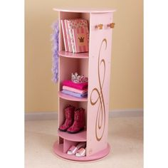 Princess Bookcase It Turns And Has A Full Mirror On The Backside