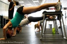 #Crossfit - working up to the hand stand push up. Do this all the time.