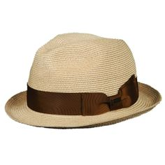 Woven Hemp Fedora by Christys' London. Bow accent. Lightweight and breathable $69.95