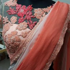 Vhj New Saree Blouse Designs, Blouse Designs Catalogue, Saree Styles, Blouse Styles, Net Blouses, Embroidery Fashion, Embroidery Blouses, Designer Blouse Patterns, Beautiful Blouses