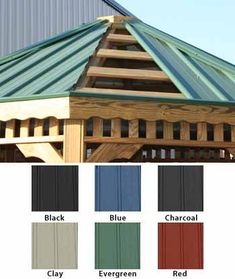 What are some popular metal roof colors?