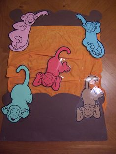 This week our theme was Snuggles, Cuddles and Bedtime! We jazzed things up a bit with a Five Little Monkeys Jumping on the Bed flannel board. As usual the song was a hit with the kids–the f… Flannel Board Stories, Felt Board Stories, Flannel Boards, Felt Stories, Monkey Jump, Monkey Art, Library Activities, Group Activities, Five Little Monkeys