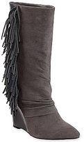 fringe boots-cosmopolitan eve suede wedge boots with fringe Boot City, Black Fringe Boots, Boot Shop, Wedge Boots, Cosmopolitan, Eve, Wedges, Heart, Shopping