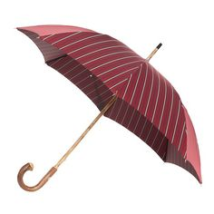 Pasotti men's italian handmade umbrella with chestnut handle and red/grey striped canopy ( art.4003 ), $229