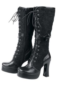 Floral Gothic Boot by Inamagura