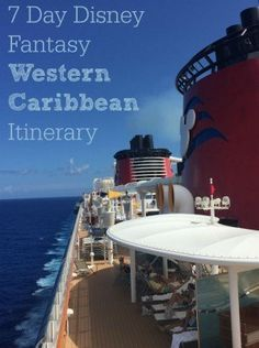 Planning a Disney Cruise? Check out the 7-day Fantasy Western Caribbean itinerary including stops at Cozumel, Grand Cayman, Jamaica, and Castaway Cay (Disney's private island in the Bahamas).