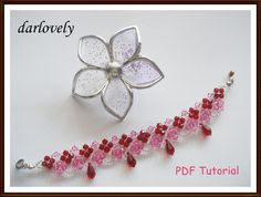 Rose Red Teardrop Bracelet (BB127)