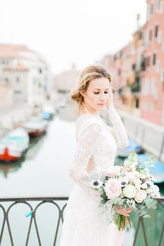 """""""It is the city of mirrors, the city of mirages, at once solid and liquid, at once air and stone."""" Erica Jon. Venice, city of magic, romance and fairy tales, take us back...#weddingfloristitaly#weddingflorals #bridalbouquet#anemonebouquet#underthefloralspell #myfloraldays City Of Mirrors, Venice City, Wedding Flowers, Wedding Dresses, Italy Wedding, Lake District, Flower Delivery, Florals, Fairy Tales"""